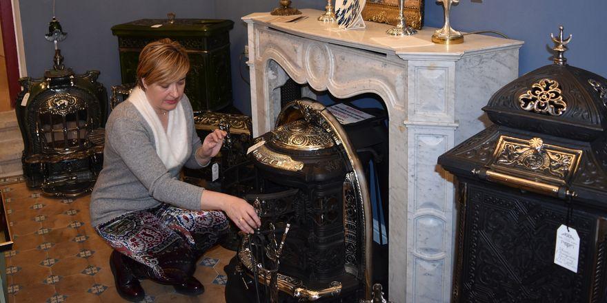 Larisa Fedorova ve svém obchodě, foto: Klára Stejskalová