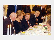 Le dernier dîner du cabinet Zeman avec le Président Havel, photo: CTK