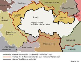 Protektorat Böhmen und Mähren (Quelle: Bayerischer Rundfunk)