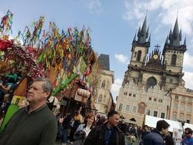 Easter market on the Old Town Square, photo: Ekaterina Stashevskaya