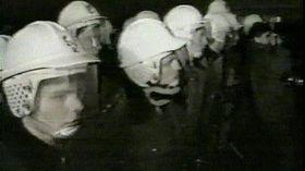 Národní třída, November 17, 1989, photo: Czech Television