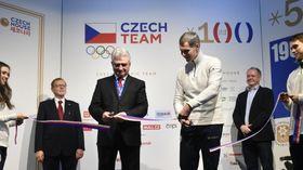 Milan Štěch et Jiří Kejval à la Maison tchèque à Pyeongchang, photo: ČTK