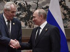 Miloš Zeman, Vladimir Putin, photo: CTK