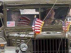 Un défilé de jeeps américaines à Plzen, photo: CTK