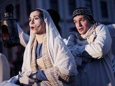 """""""Bethlehem oder die Übergroße Huldigung an das gerade geborene Jesulein"""" (Foto: Marek Bureš, Offizielle Facebook-Seite des Theaters Husa na provázku)"""