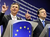 Jan Fischer et José Manuel Barroso, photo: CTK