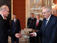 Ivan Pilný et Miloš Zeman, photo: ČTK