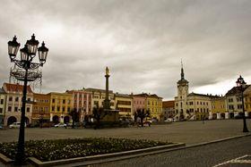 Центральная площадь Кромержижа с чумным столбом, фото: Вит Поганка