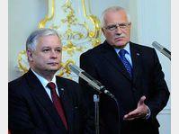 Le président polonais Lech Kaczynski et son homologue Václav Klaus, photo: CTK