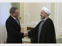 Lubomír Zaorálek, Hassan Rouhani, photo: CTK