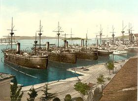 La marine austro-hongrois au port de Pula, photo: Library of Congress
