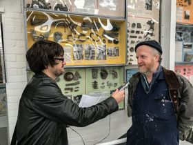 David Brocklehurst shows Ian Willoughby around the museum, photo: Tom Dolezal / Free Czechoslovak Airforce Association