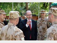 Bohuslav Sobotka en Afghanistan, photo: ČTK