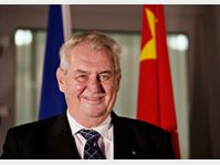 Miloš Zeman en Chine, photo: ČTK