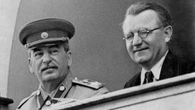 Jósif Stalin y Klement Gottwald, foto: ČT