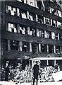 Le siège de la radiodiffusion tchécoslovaque en 1945