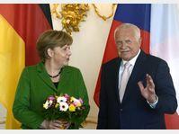 Angela Merkel et Václav Klaus, photo: CTK