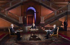 Jiří Drahoš and Miloš Zeman during the last presidential election debate, photo: CTK