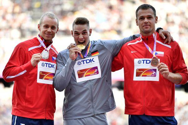 Jakub Vadlejch, Johannes Vetter und und Petr Frydrych (Foto: ČTK)