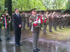 Ceremony at Prague's Ďáblice Cemetery, photo: Rob Cameron
