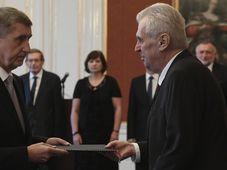 Andrej Babiš, Miloš Zeman, photo: CTK