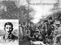 Leopold Hilsner et le lieu du meurtre d'Anežka Hrůzová, photo: Archives de Klub za starou Prahu