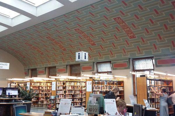 Потолок в центральном зале работы Франтишека Киселы, Фото: Ольга Васинкевич, Чешское радио - Радио Прага