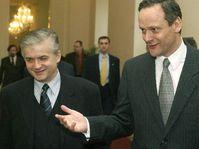 Wlodzimierz Cimoszewicz and Cyril Svoboda, photo: CTK