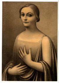 Jan Zrzavý - 'Portrét paní Osuské' (drawing), photo: archive of Antikvity Art Auction house