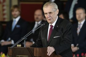 Инаугурационная речь Милоша Земана, фото: ЧТК