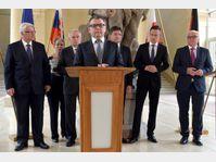 Les ministres des Affaires étrangères des quatre pays du groupe de Visegrád étaient réunis à Prague, photo: ČTK