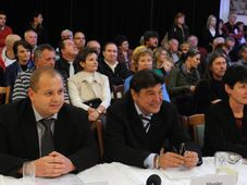 Les membres du parti DSSS Jindřich Svoboda, Miroslav Toman et Miluše Janoušková, photo: ČTK