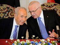 Shimon Pérès et Václav Klaus, photo: CTK