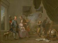 Norbert Grund: Der Besuch im Atelier (Foto: Archiv der Prager Nationalgalerie)