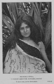 Maorská dívka, zknihy 'Obrazy zjižní polokoule'