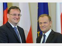 Petr Nečas et Donald Tusk, photo: CTK