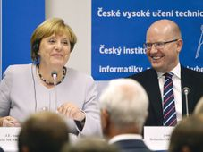 Angela Merkel, Bohuslav Sobotka, photo: CTK