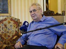 Милош Земан дал интервью «Чешскому радио», Фото: Халил Баалбаки, Чешское радио