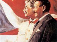 Klement Gottwald und Stalin