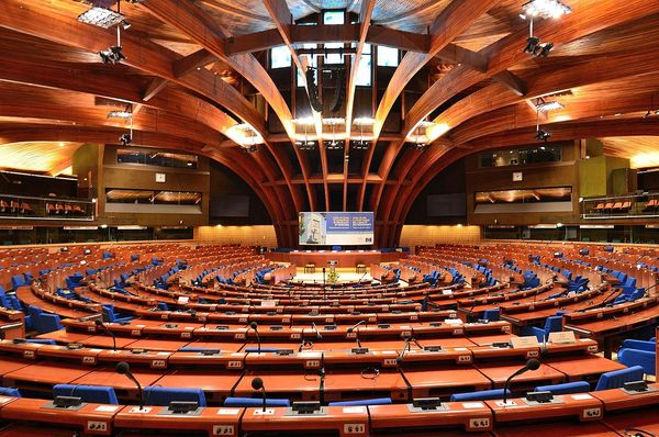 Зал заседаний Совета Европы, Фото: Adrian Grycuk, CC BY-SA 3.0 pl