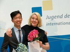 Khoi Nguyen und Kristýna Přikrylová, Foto: Facebook 'Jugend debattiert'