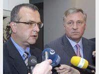 Miroslav Kalousek et Mirek Topolanek, photo: CTK