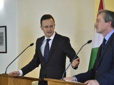 Peter Szijarto, Martin Stropnický, photo: CTK
