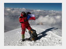 Radek Jaroš au sommet du K2, photo: ČTK