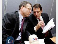 Präsident des tschechischen Abgeordnetenhauses Lubomir Zaoralek und Ministerpräsident Jiri Paroubek (Foto: CTK)