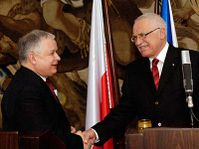 Le Président polonais Lech Kaczynski et le Président Vaclav Klaus, photo: CTK