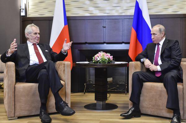 Miloš Zeman při jednání s Vladimirem Putinem, foto: ČTK