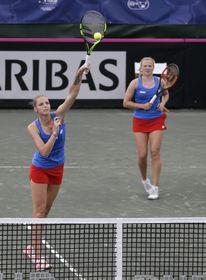 Kristýna Plíšková, Kateřina Siniaková, photo: CTK