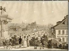 Vincent Morstadt: La place Venceslas (1835), photo: Archives de Musée municipal de Prague