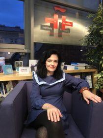 Susana Blas, comisaria española de la exposición 'Las Formas del Alma', foto: Melissa Castaño